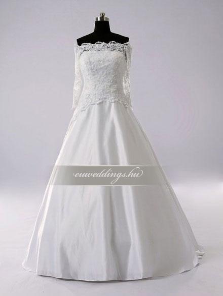 Menyasszonyi ruha A vonalú hosszú ujjú-AVH-250 8fb8cab2b7
