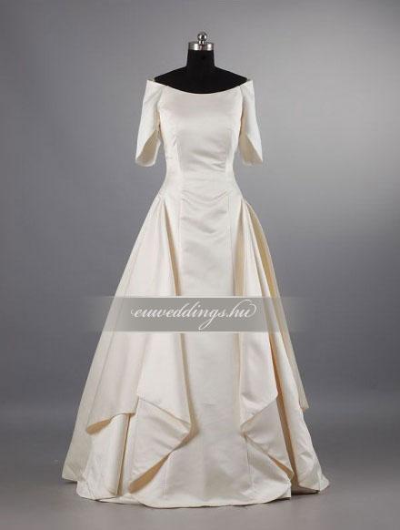 Menyasszonyi ruha A vonalú hosszú ujjú-AVH-265
