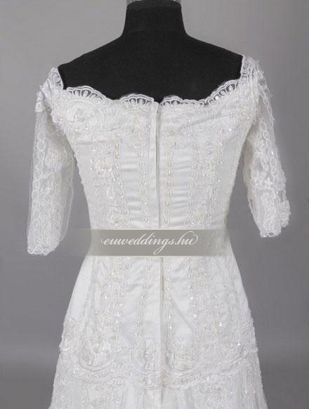 Menyasszonyi ruha A vonalú hosszú ujjú-AVH-288 11ab1622a3