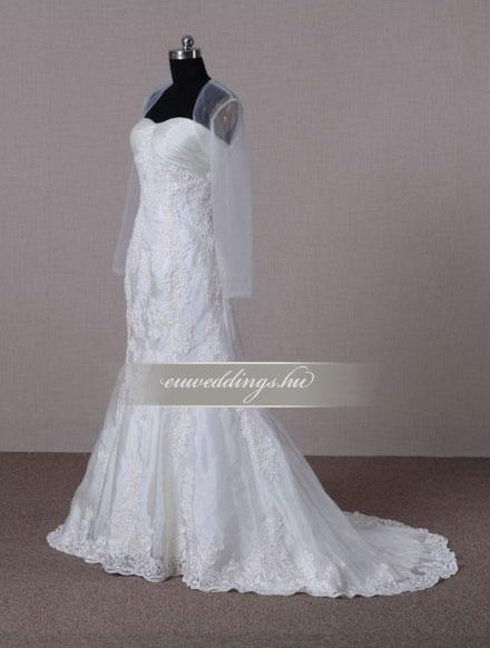 Menyasszonyi ruha A vonalú hosszú ujjú-AVH-327