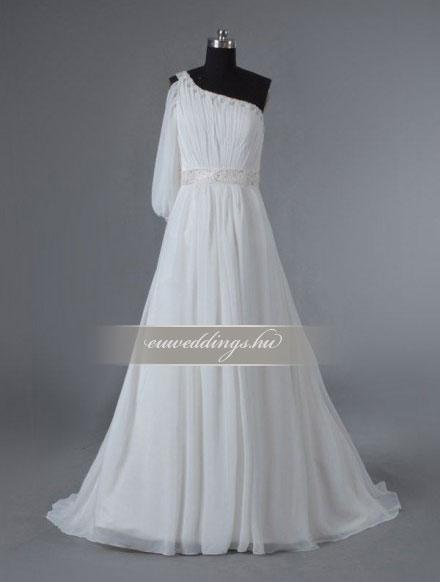 Menyasszonyi ruha A vonalú hosszú ujjú-AVH-337 fd4feb42a3