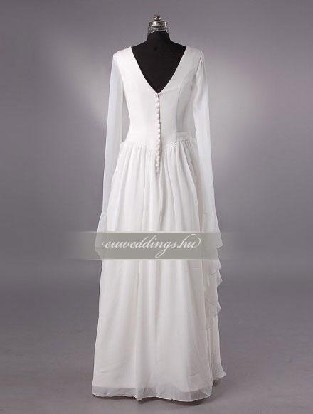Menyasszonyi ruha A vonalú hosszú ujjú-AVH-354