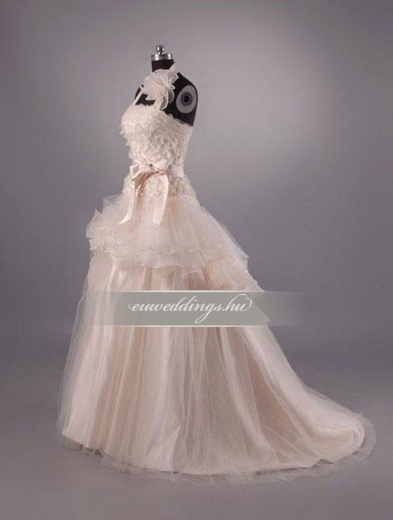 Menyasszonyi ruha A vonalú pántos-AVP-403