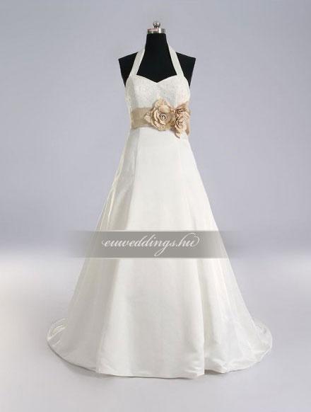 Menyasszonyi ruha A vonalú pántos-AVP-408
