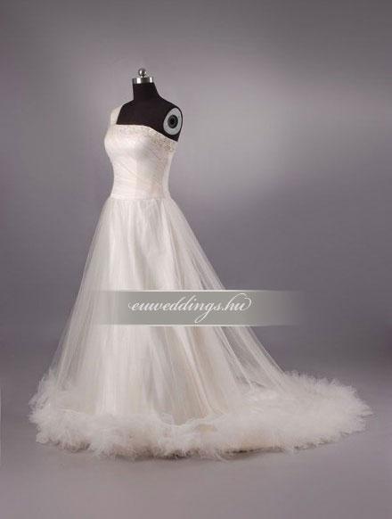 Menyasszonyi ruha A vonalú pántos-AVP-418