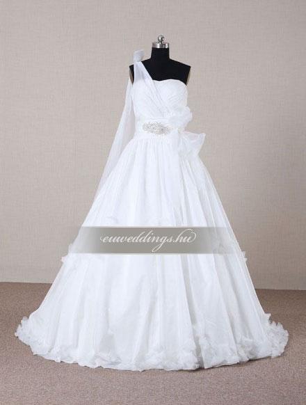Menyasszonyi ruha A vonalú pántos-AVP-423