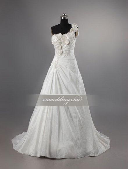 Menyasszonyi ruha A vonalú pántos-AVP-433 8886a9231e