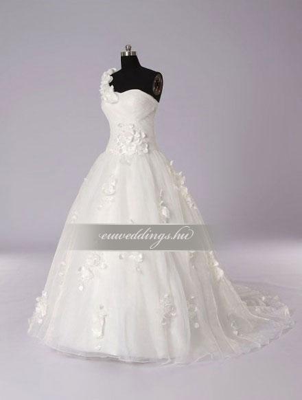Menyasszonyi ruha A vonalú pántos-AVP-438