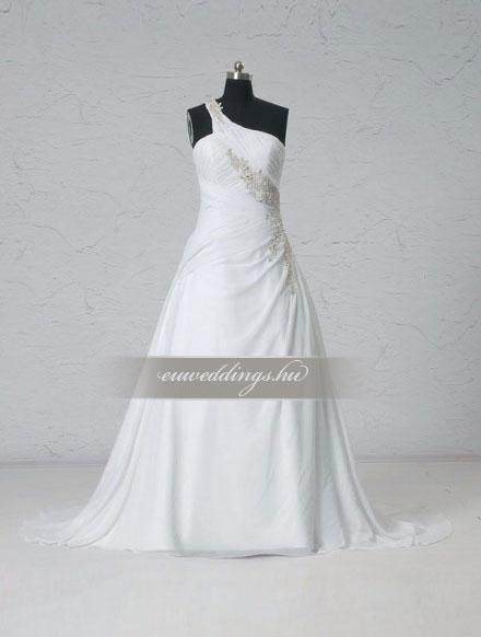 Menyasszonyi ruha A vonalú pántos-AVP-448