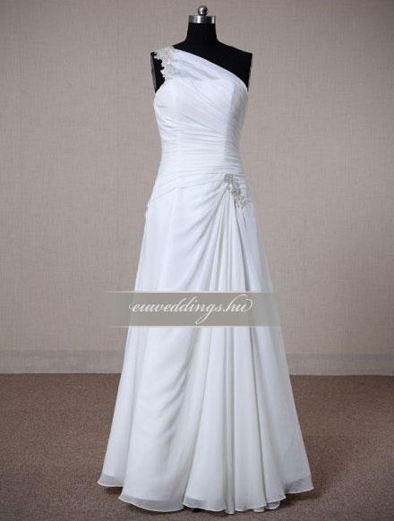 Menyasszonyi ruha A vonalú pántos-AVP-463