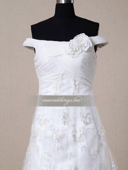 Menyasszonyi ruha A vonalú pántos-AVP-468