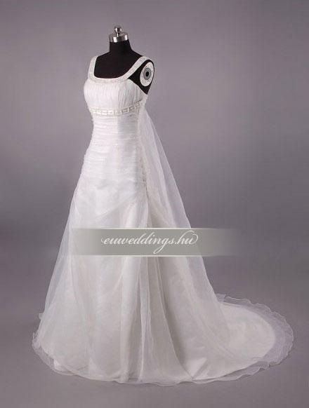 Menyasszonyi ruha A vonalú pántos-AVP-478
