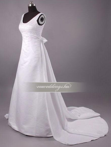 Menyasszonyi ruha A vonalú pántos-AVP-567