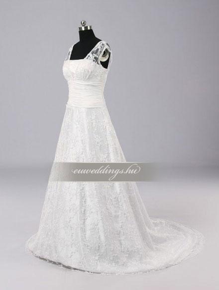 Menyasszonyi ruha A vonalú pántos-AVP-596