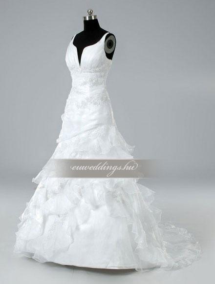 Menyasszonyi ruha A vonalú pántos-AVP-885