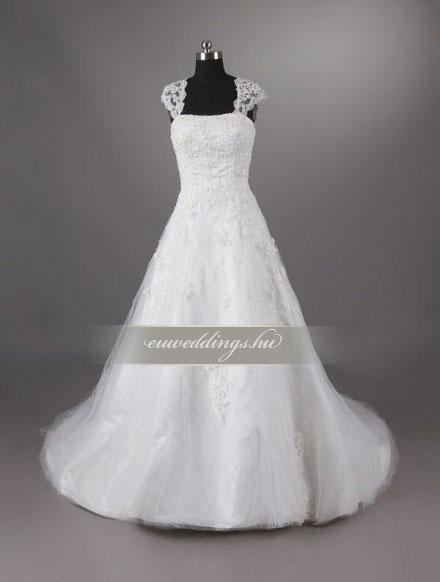 b40f2577bc Menyasszonyi ruha A vonalú pántos   JoosEraBridal esküvői ruhák