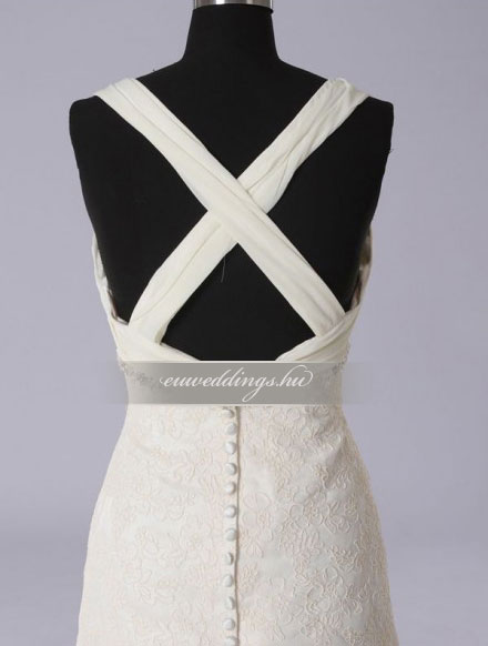 Menyasszonyi ruha A vonalú pántos-AVP-1168