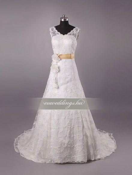 Menyasszonyi ruha A vonalú pántos-AVP-1267