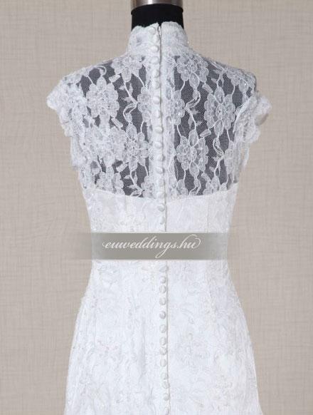 Menyasszonyi ruha A vonalú pántos-AVP-1386