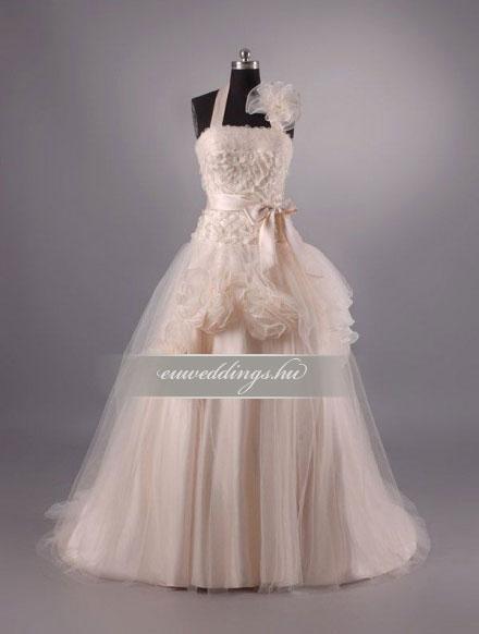 Menyasszonyi ruha A vonalú színes és mintás-AVS-1529