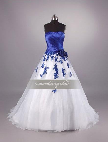 Menyasszonyi ruha A vonalú színes és mintás-AVS-1549