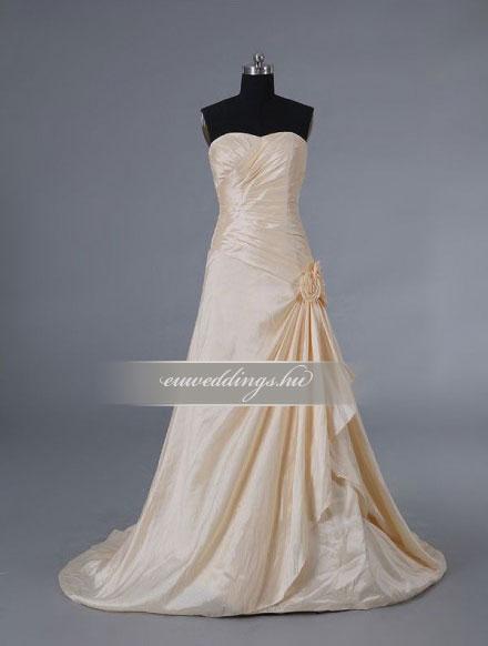Menyasszonyi ruha A vonalú színes és mintás-AVS-1568