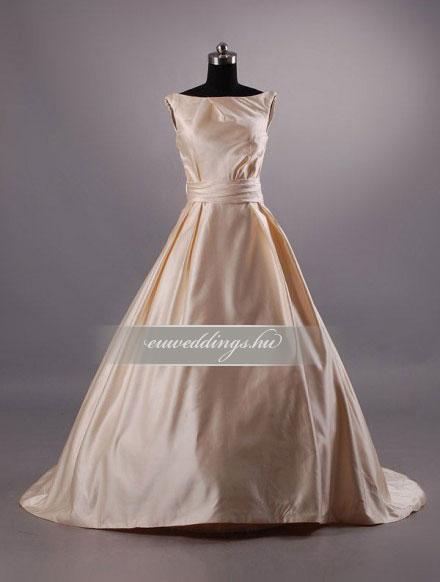 Menyasszonyi ruha A vonalú színes és mintás-AVS-1583