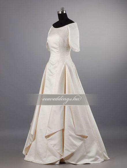 Menyasszonyi ruha A vonalú színes és mintás-AVS-1621