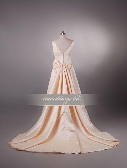 Menyasszonyi ruha A vonalú színes és mintás-AVS-1631