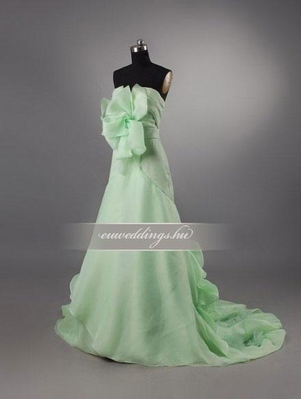 Menyasszonyi ruha A vonalú színes és mintás-AVS-1658