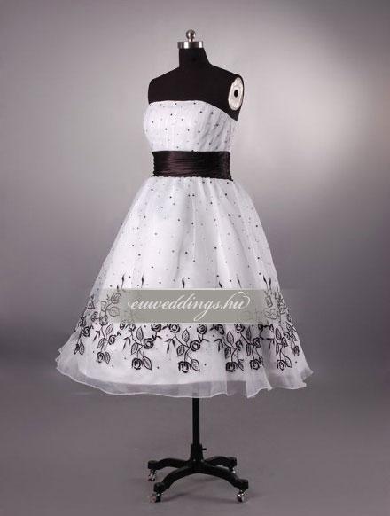 Menyasszonyi ruha A vonalú színes és mintás-AVS-1732