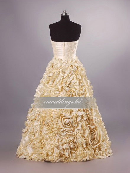 Menyasszonyi ruha A vonalú színes és mintás-AVS-1746