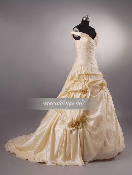 Menyasszonyi ruha A vonalú színes és mintás-AVS-1770