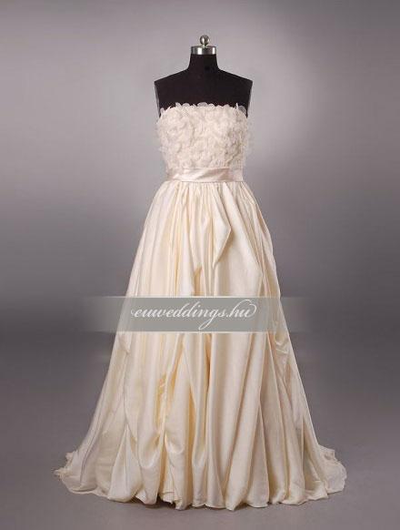 Menyasszonyi ruha A vonalú színes és mintás-AVS-1800