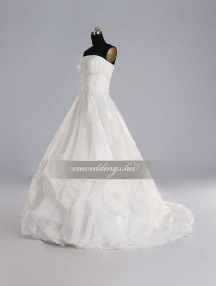 Menyasszonyi ruha A vonalú ujjatlan-AVU-1850