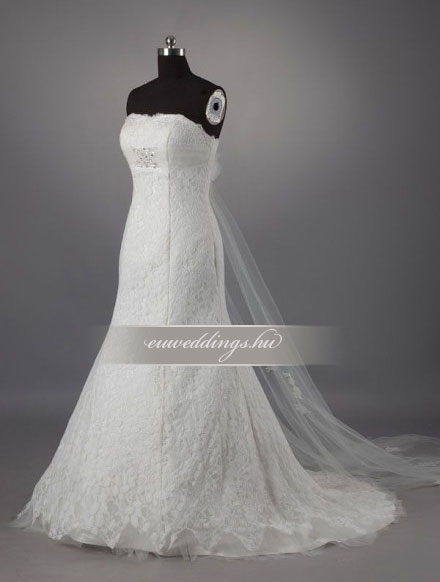 Menyasszonyi ruha A vonalú ujjatlan-AVU-1895