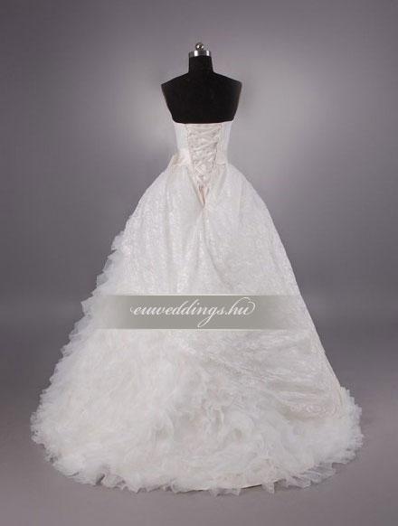 Menyasszonyi ruha A vonalú ujjatlan-AVU-1934