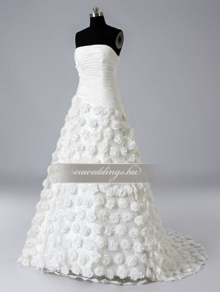 Menyasszonyi ruha A vonalú ujjatlan-AVU-2029