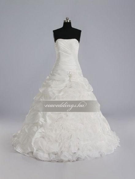 Menyasszonyi ruha A vonalú ujjatlan-AVU-2034