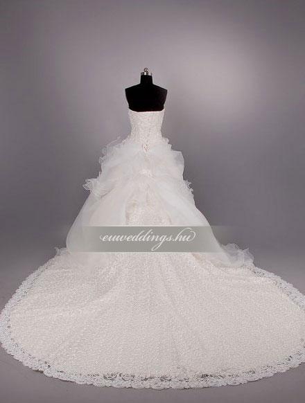 Menyasszonyi ruha A vonalú ujjatlan-AVU-2048