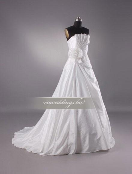 Menyasszonyi ruha A vonalú ujjatlan-AVU-2137