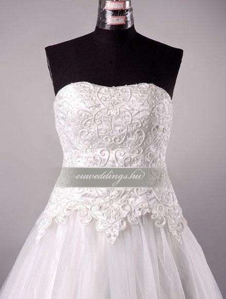 Menyasszonyi ruha A vonalú ujjatlan-AVU-2157