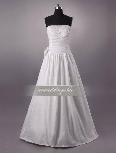 Menyasszonyi ruha A vonalú ujjatlan-AVU-2192