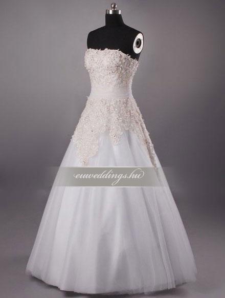 Menyasszonyi ruha A vonalú ujjatlan-AVU-2207