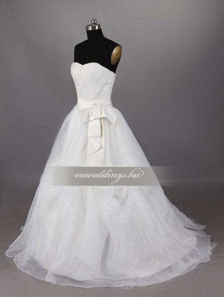 Menyasszonyi ruha A vonalú ujjatlan-AVU-2274