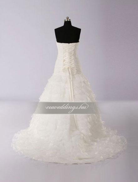 Menyasszonyi ruha A vonalú ujjatlan-AVU-2289