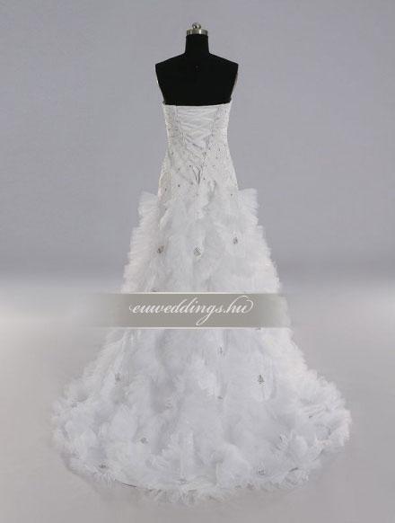 Menyasszonyi ruha A vonalú ujjatlan-AVU-2293