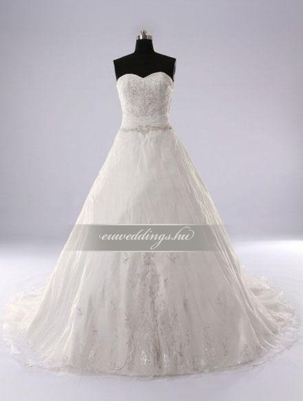 Menyasszonyi ruha A vonalú ujjatlan-AVU-2332