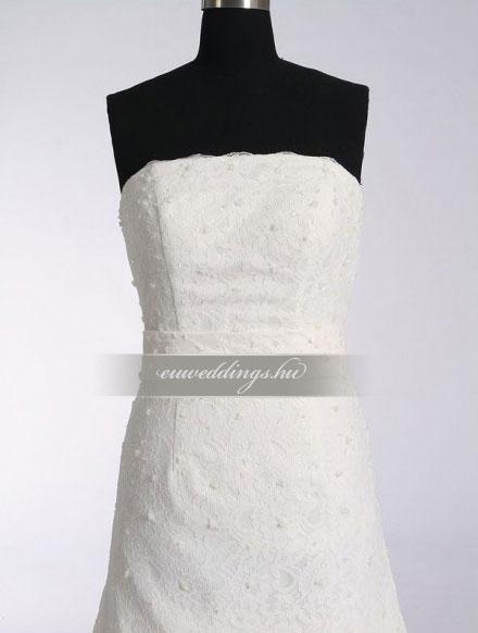 Menyasszonyi ruha A vonalú ujjatlan-AVU-2523