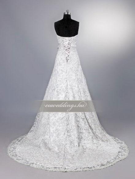 Menyasszonyi ruha A vonalú ujjatlan-AVU-2619